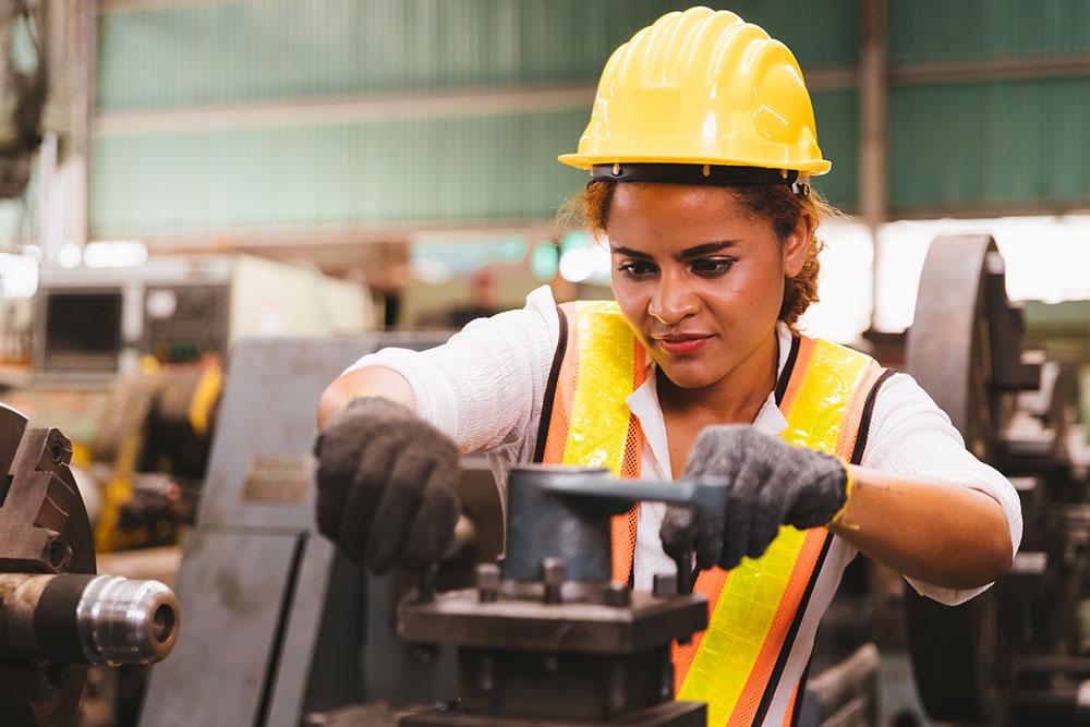 Factory maintenance worker